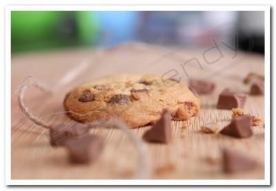 Ciasteczka reklamowe wykonane z czekolady
